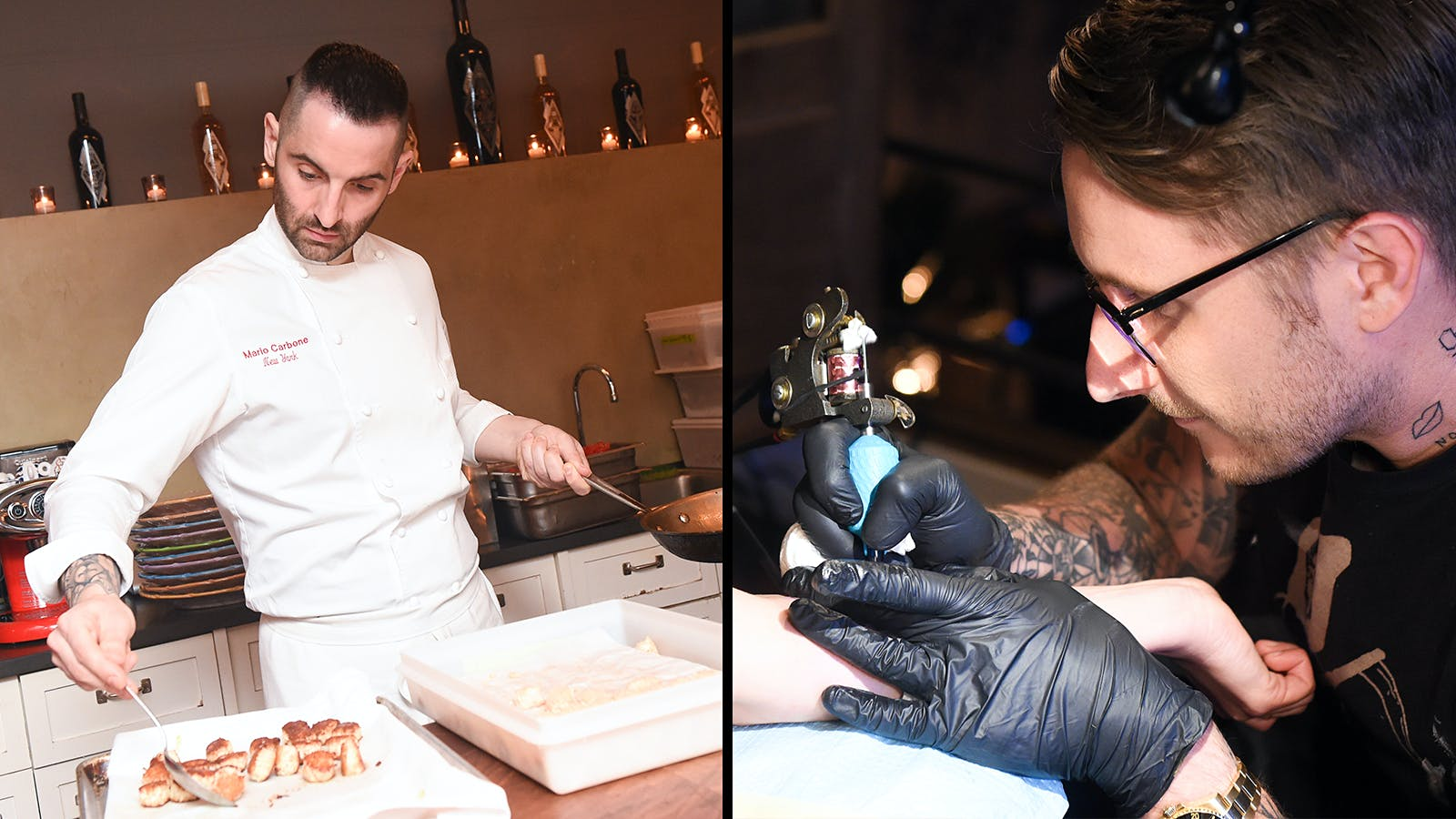 Mario Carbone, Scott Campbell Spill Ink, Rosé at Wine-Tattoo To-Do