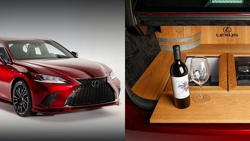 Scott Pruett Designs Custom Lexus Wine Car; Bugatti Gets a Carbon-Fiber Champagne