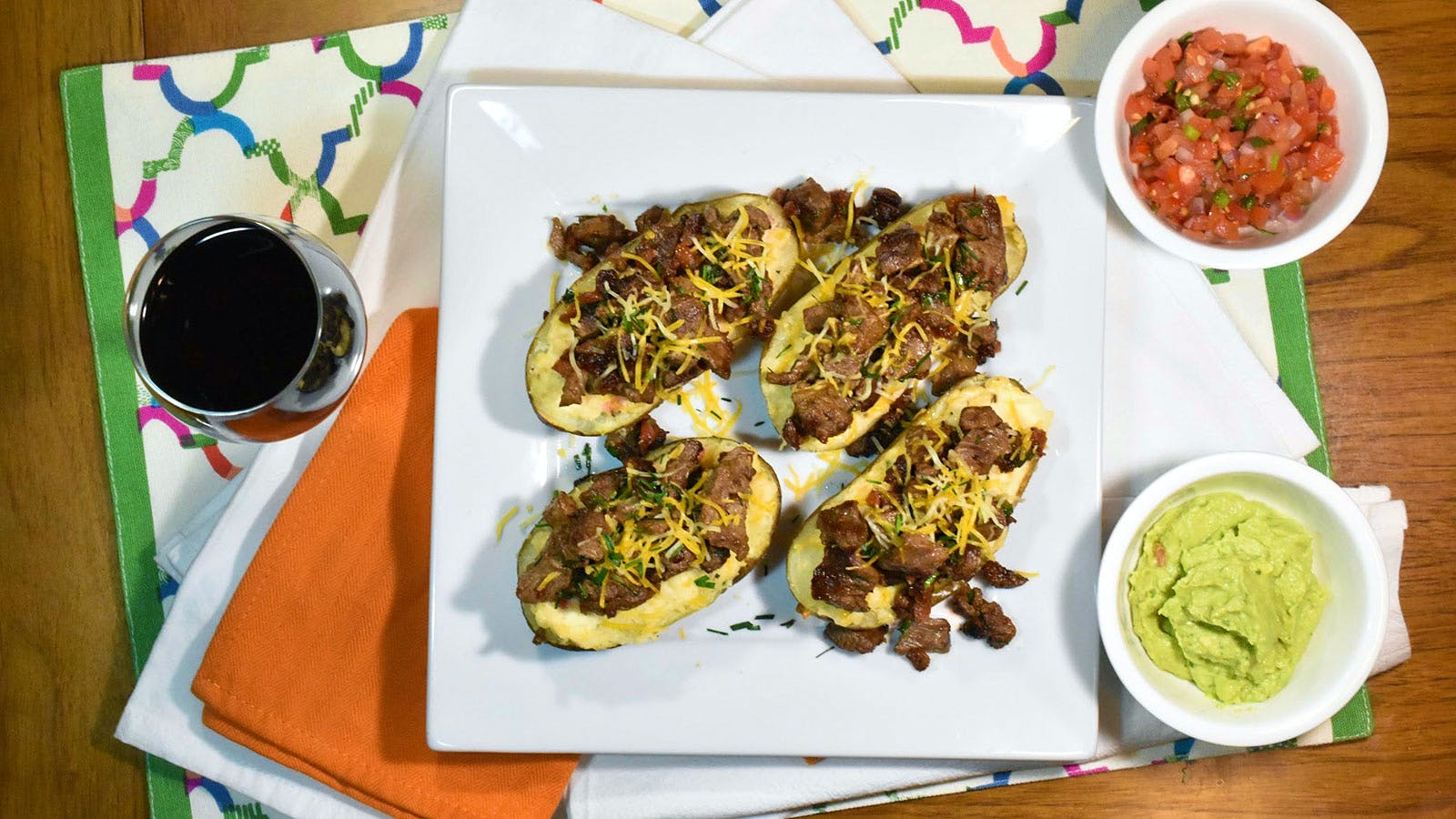 8 & $20: Steak-Loaded Cheesy Baked Potatoes