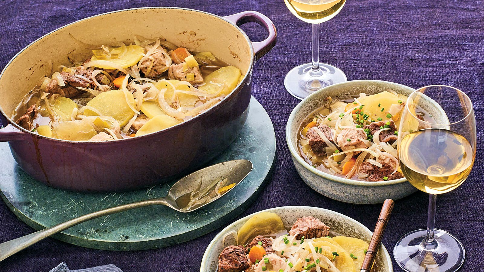 Perfect Match Recipe: Meat, Leek and Potato Casserole with Riesling