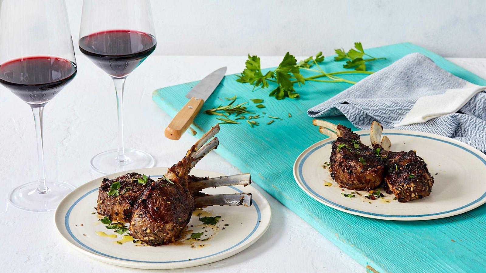 Perfect Match Recipe: Garlic-Rosemary Grilled Lamb Chops