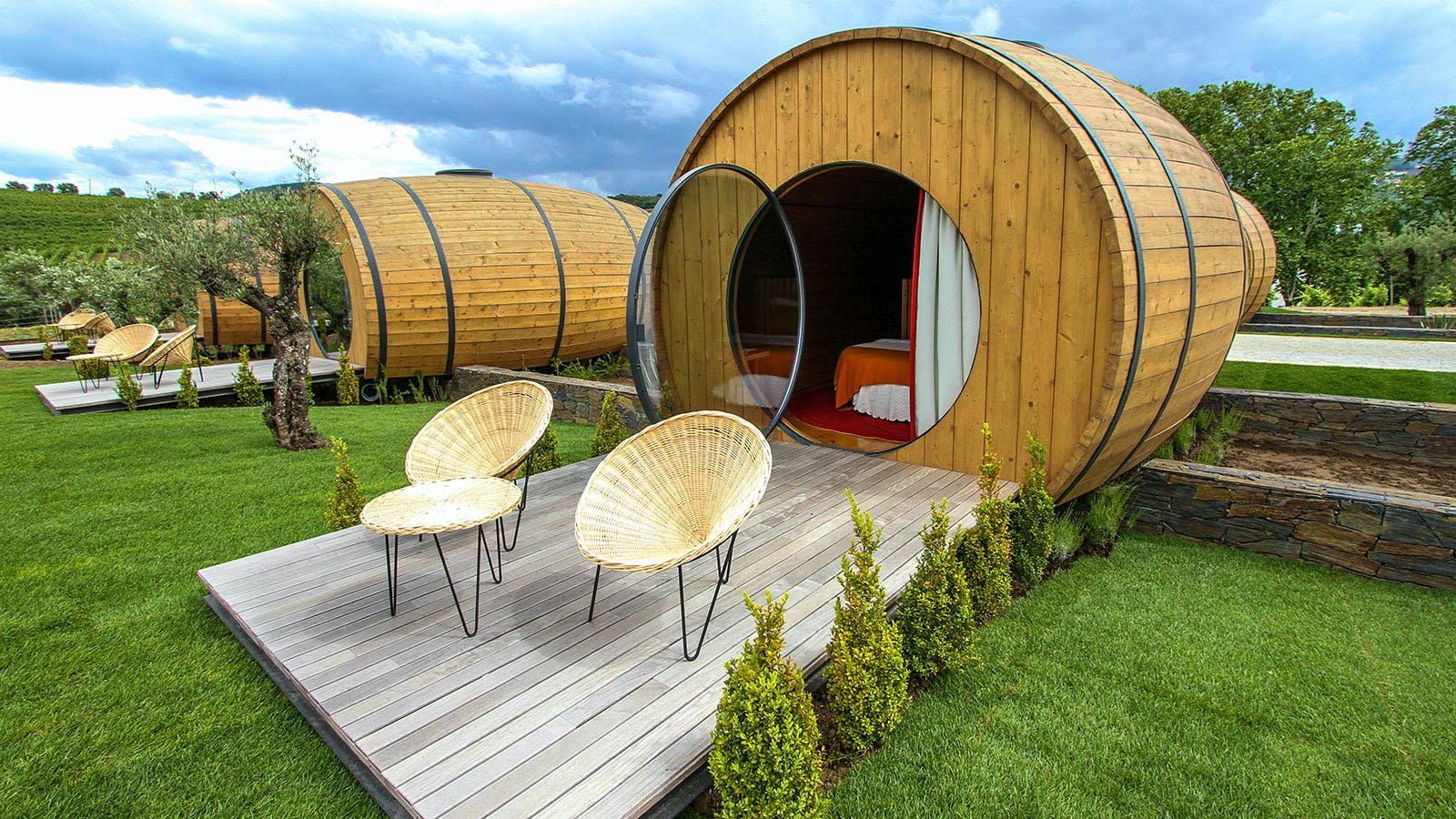 You, Must: Spend the Night in a Wine-Barrel Hotel Room!