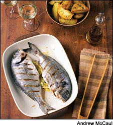 Grilled Dorade with Roasted Potatoes