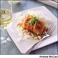 Braised Black Cod With Ginger-Soy Glaze