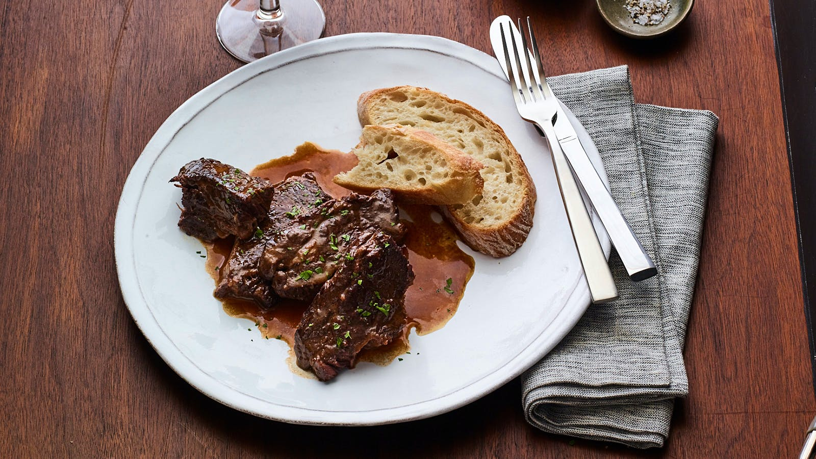Braised Short Ribs with Horseradish Cream
