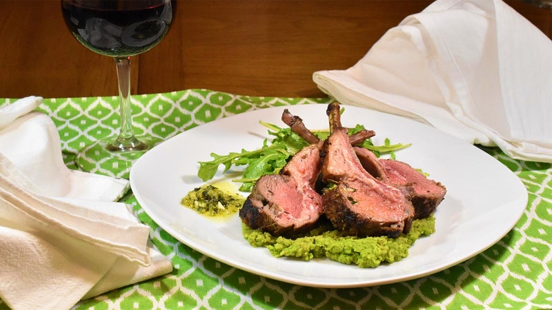 8 & $20: Lamb Chops with Mint Gremolata and Minty Mashed Peas
