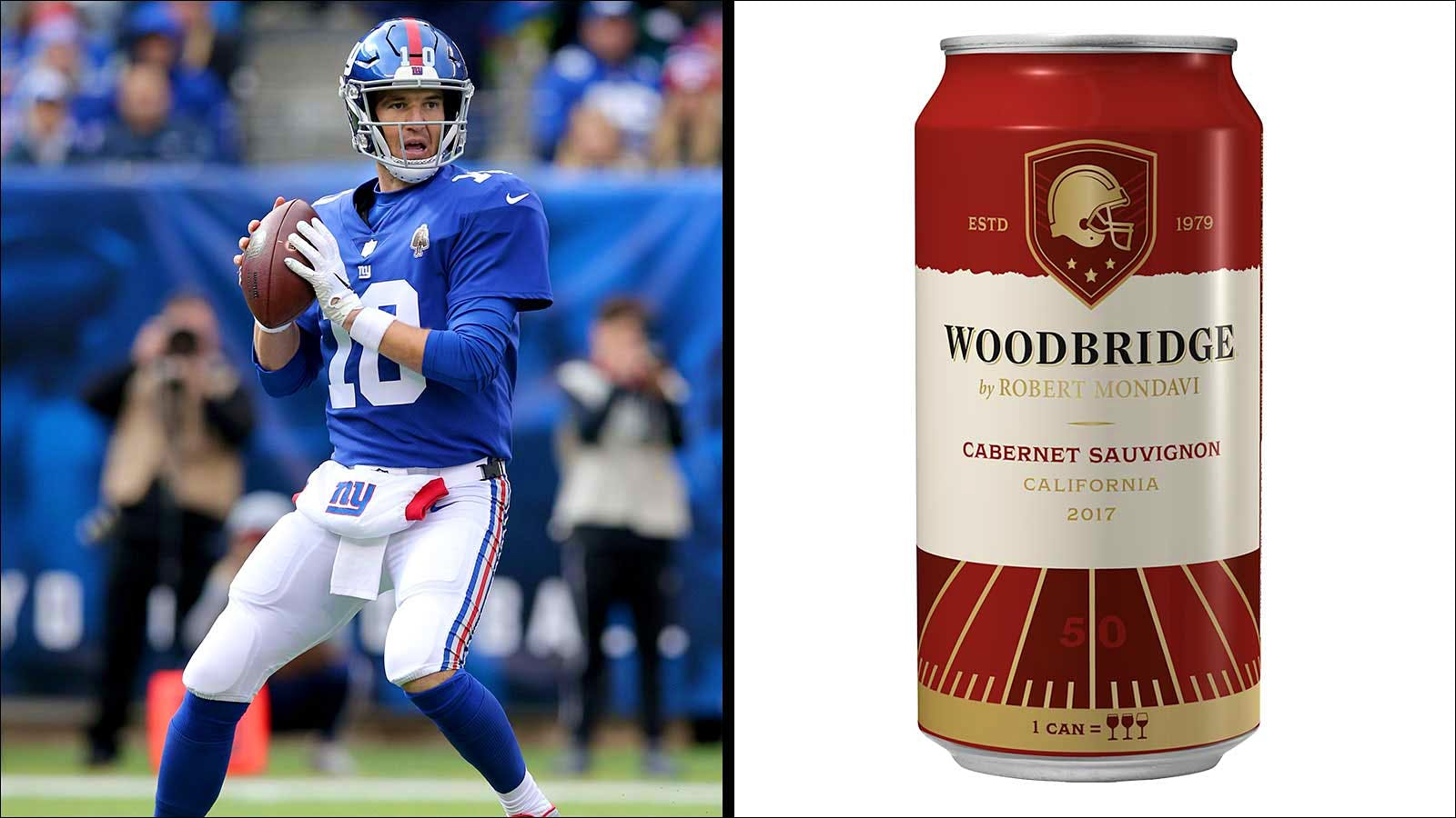 Woodbridge Cabernet Cans Coming to Giants, Rams and Bears
