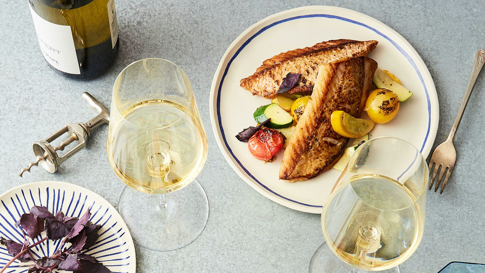 Dining Tip: Seared Red Snapper with Yellow Squash