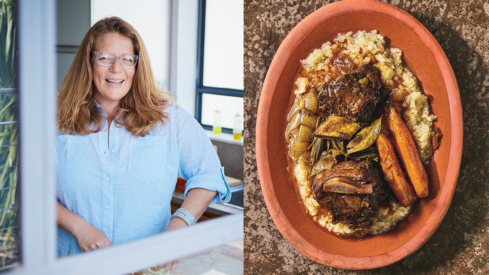 Adeena Sussman's Passover-Friendly Braised Short Ribs with Roasted Kohlrabi Mash