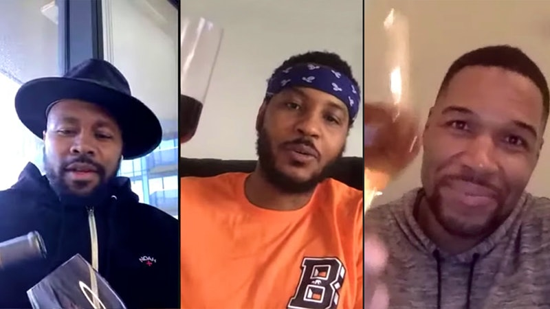Carmelo Anthony Hosts Michael Strahan, T.I. to Discuss the Bad Old Days of Wine—and More Urgent Issues of Justice and Equality