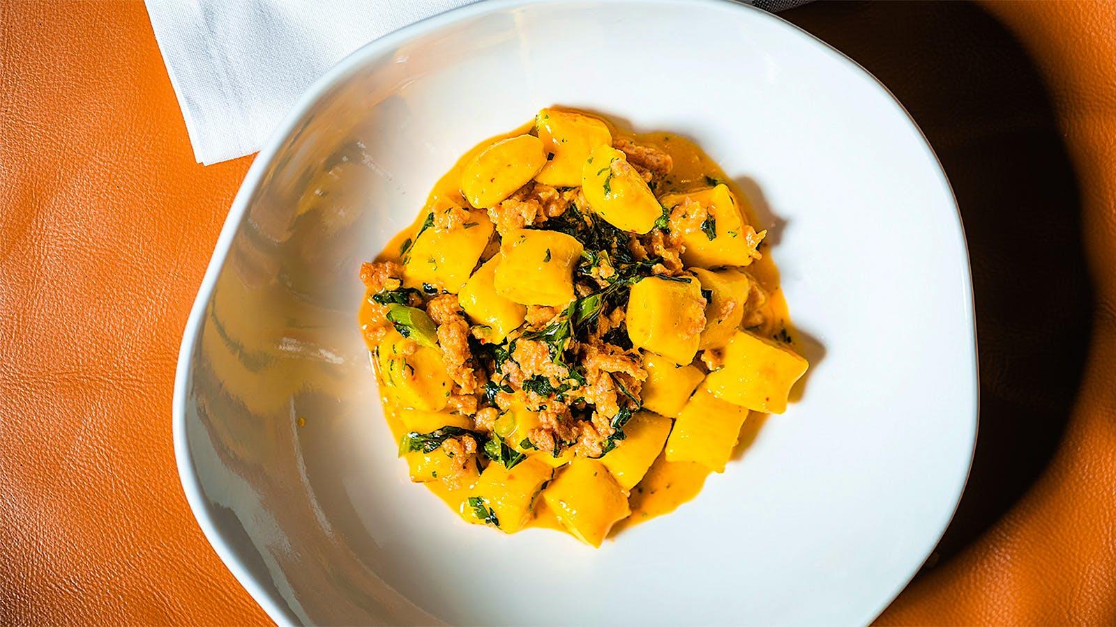 Chef Greg Vernick's Late-Summer Saffron Ricotta Gnocchi with Tuna 'Nduja