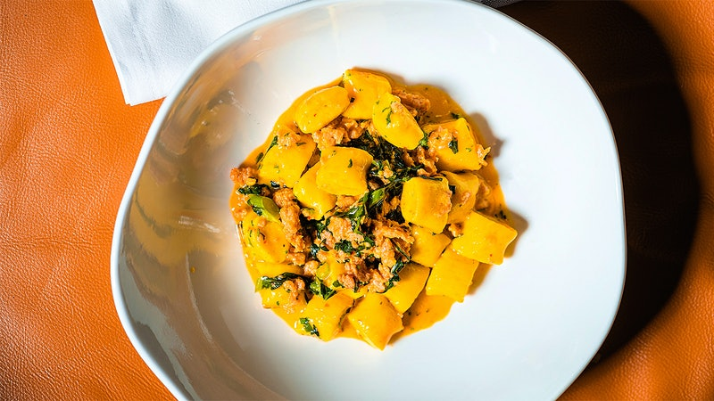 Chef Greg Vernick's Late-Summer Saffron Ricotta Gnocchi with Tuna 'Nduja