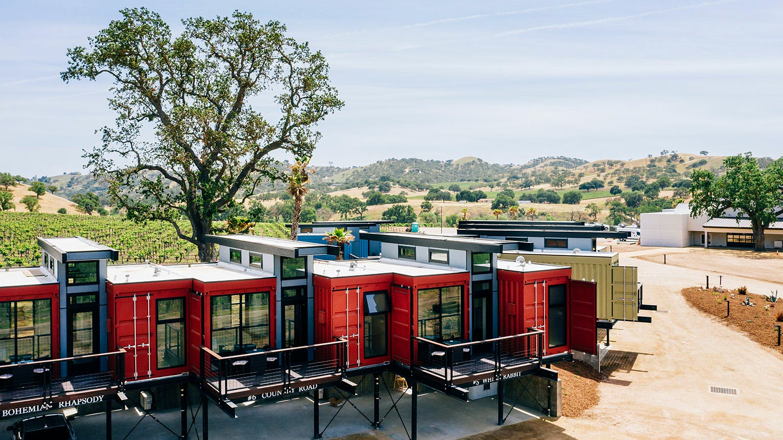 Shipping Crates, Historic Cottages, Tiny Houses Transformed into Winery Hotels
