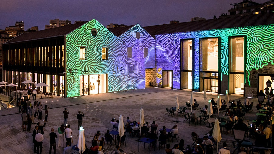 Come to the World of Wine for the tastings, chocolate factory and indoor forest; stay for the laser light display.