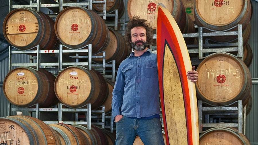 An avid surfer and musician, winemaker Taras Ochota found his calling in the cellar.