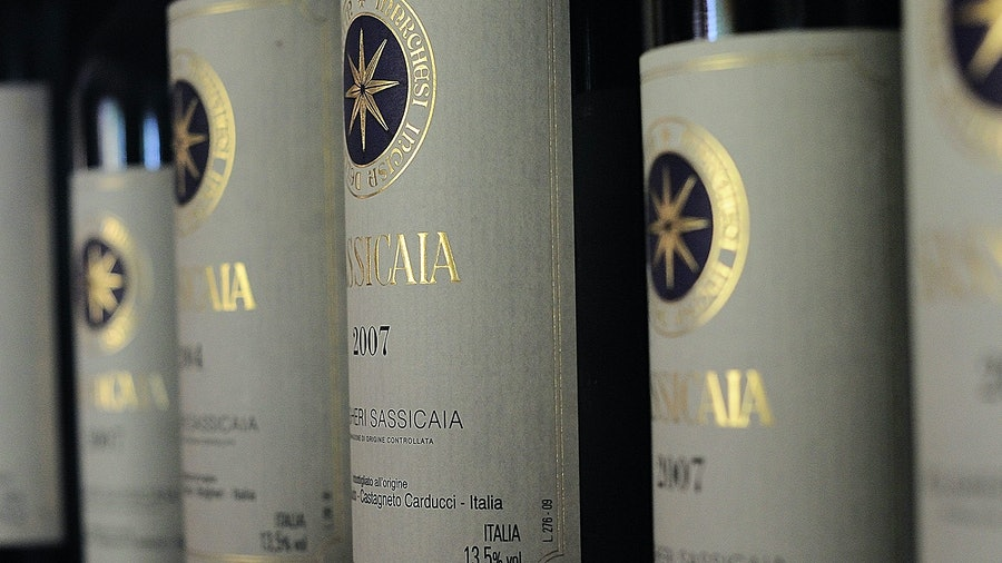 These (authentic) bottles of Sassicaia are worth a lot more than the fakes police found filled with Sicilian wine.
