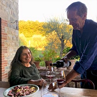 Winemaking was an afterthought when Claudia Rizza and Ev Thomas bought their property in Umbria so that the artist could more easily travel in and out of Rome. Now it is the center of their life.For Love and Vino
