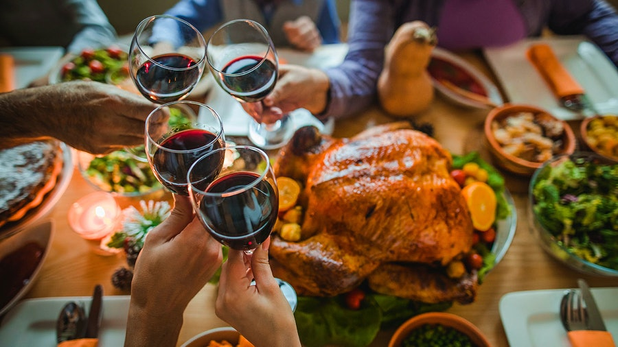 Whether it's a sparkler from Napa or a sweet red from southern France, wine is a tasty addition to Thanksgiving dinner.