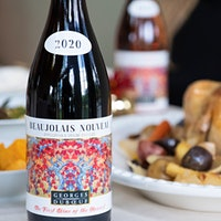 The 2020 Georges Duboeuf label features a painting by California-based artist Maeve Croghan.2020 Beaujolais Nouveau: Celebrating Bright Wines in a Dim Year