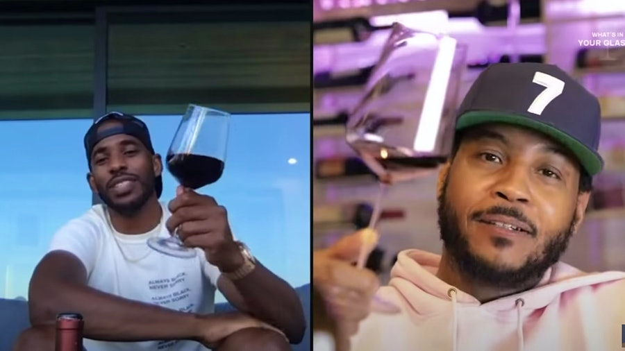 NBA stars Chris Paul and Carmelo Anthony compare tasting notes.