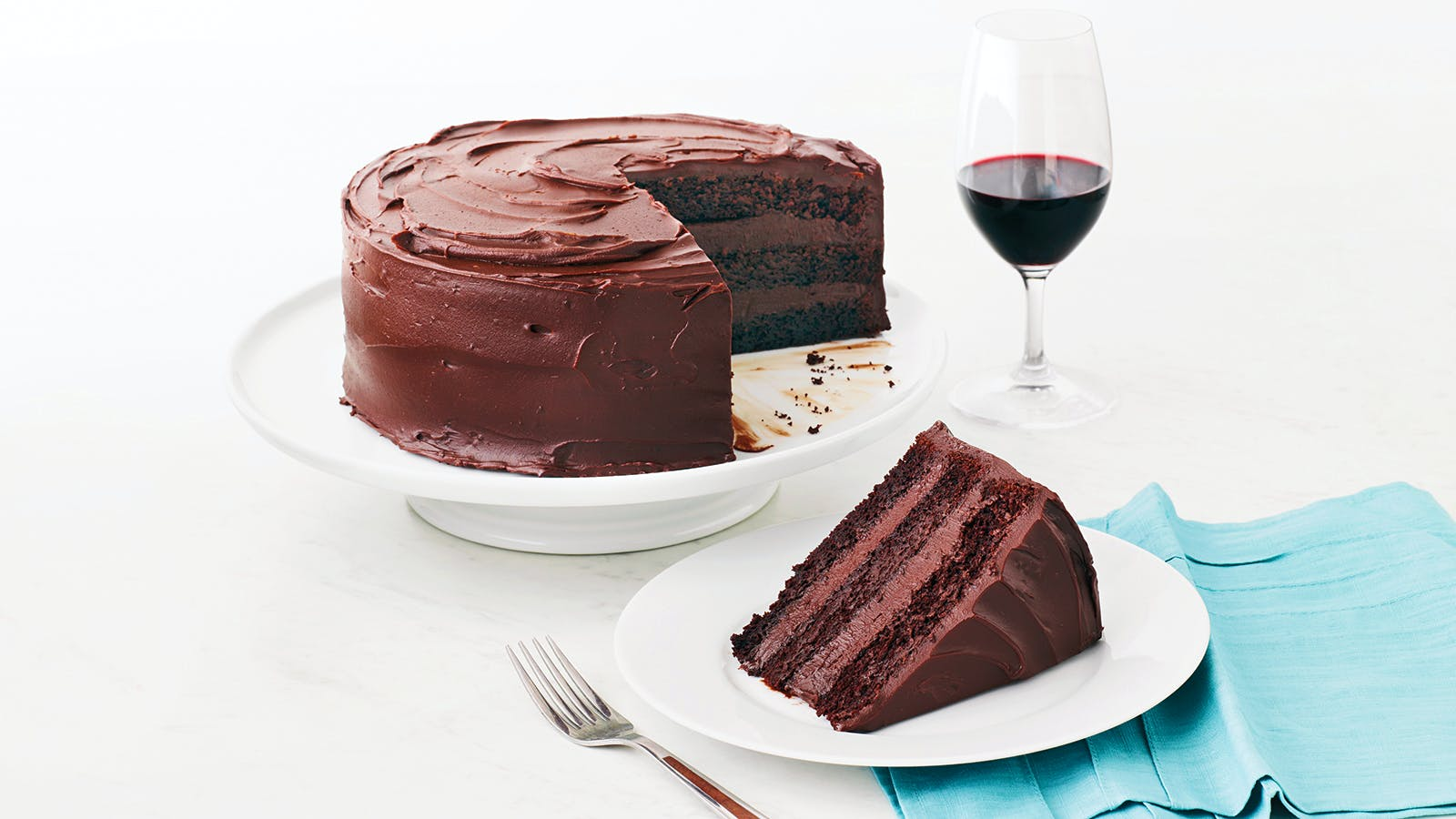 Chocolate Layer Cake With Bittersweet Ganache