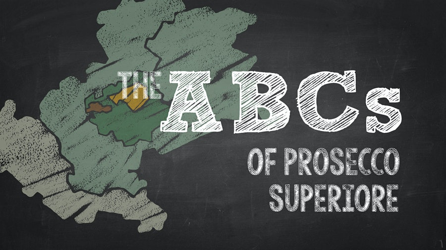 An image promoting The ABCs of Prosecco Superiore
