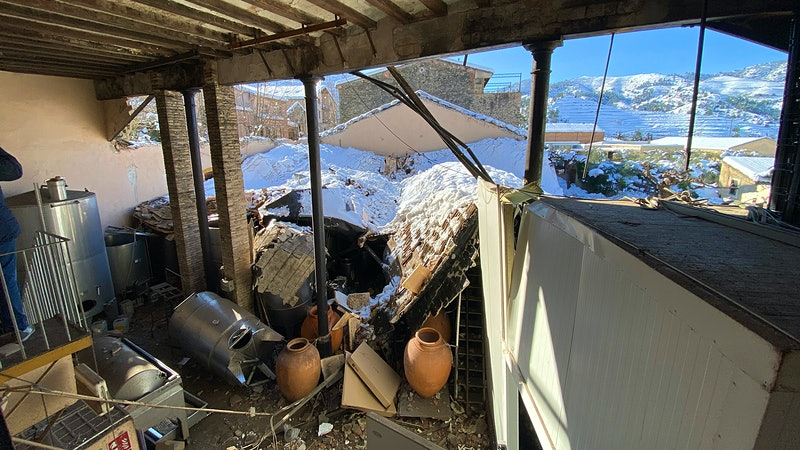 Vall Llach's Cellar Roof Collapses Under Record Snow in Spain, Jeopardizing 3 Vintages of Wine