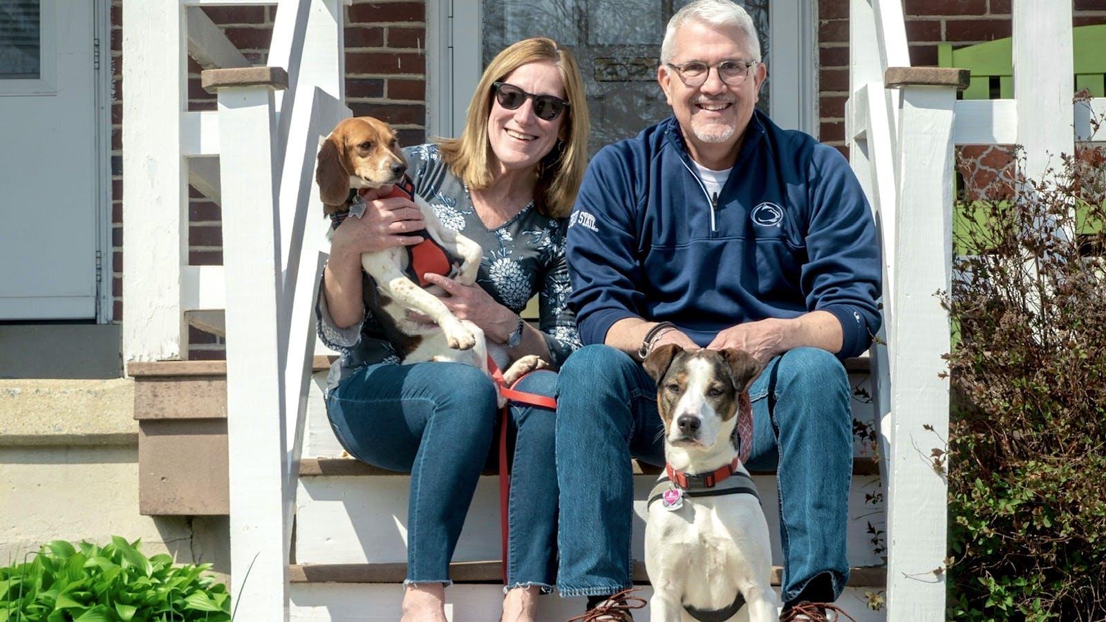 Harper & Peaches the Rescue Dogs