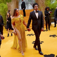 Jay-Z and Beyonce at a July movie premiere; he has partnered with LVMH on his Armand de Brignac Champagne project.SND: Moët Hennessy Takes Stake In Armand de Brignac Champagne