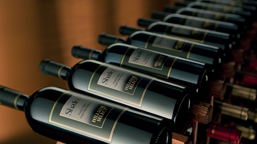 Auction lots include rare bottles of Shafer, straight from the winery's library cellar.