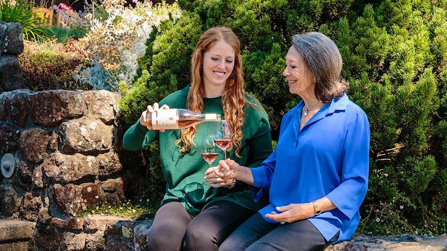 One of Las Vegas–based sommelier Sanae Halprin's favorite women winemakers is Marimar Torres of Marimar Estate in Sonoma, shown here with her daughter Cristina.