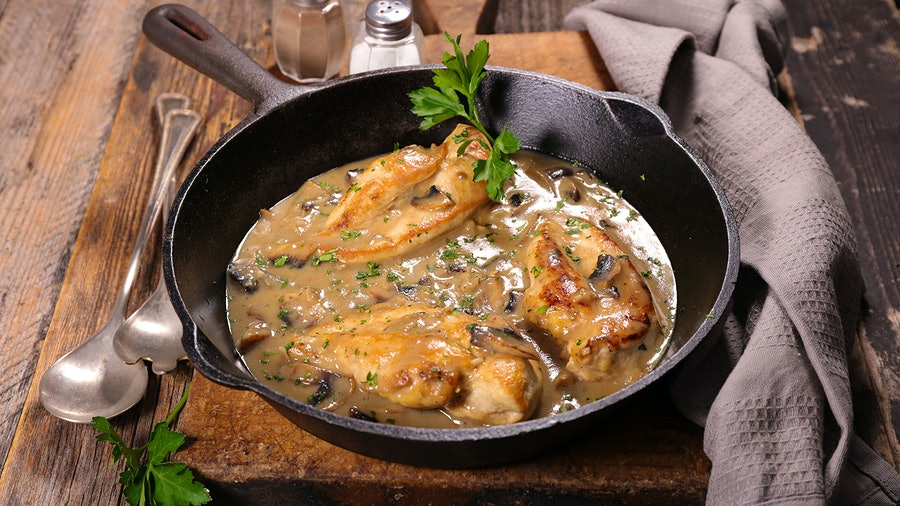 Earthy mushrooms take center stage in this dish. While the instinct might be to pair with red wine, an Italian white suits the rich sauce.