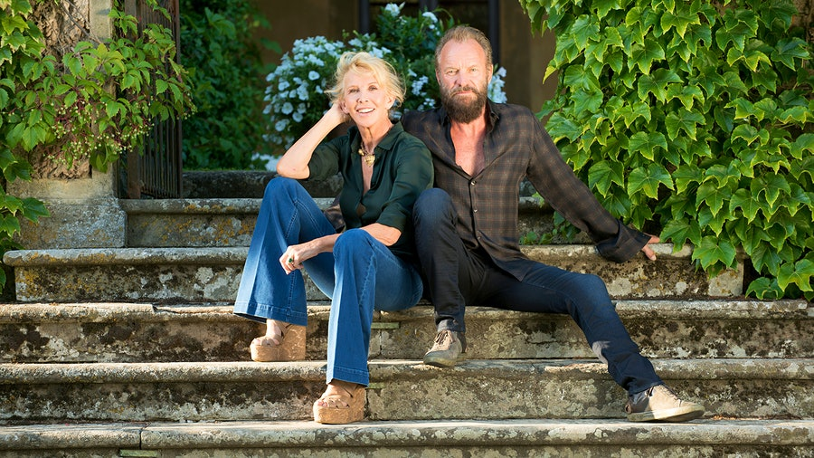 A wine tasting and dinner with Sting and Trudie Styler at their Tuscan estate Il Palagio drew feverish bidding.