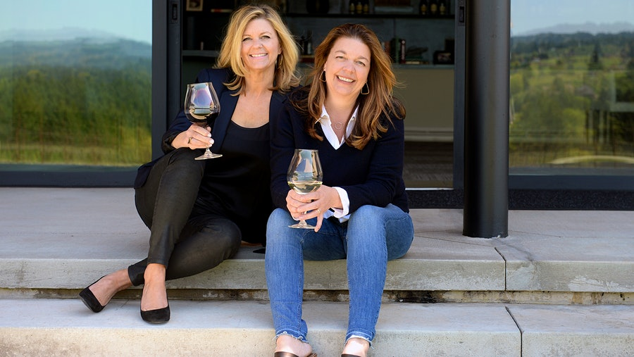 Sisters Anna Maria, left, and Luisa Ponzi have worked as CEO and winemaker, respectively, for the Oregon winery their parents founded.