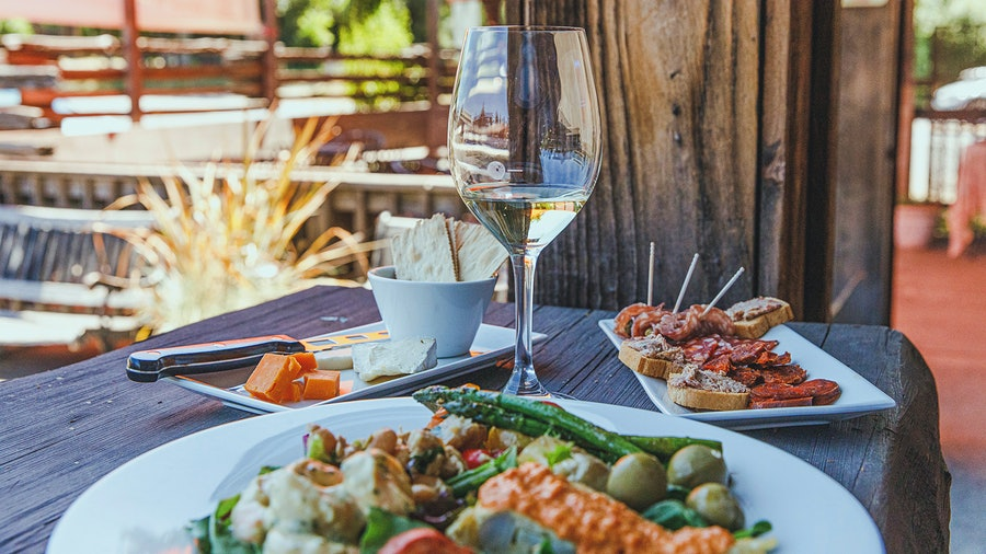 Pair Disco Ranch's well-rounded wine list with the selection of small plates and snacks.