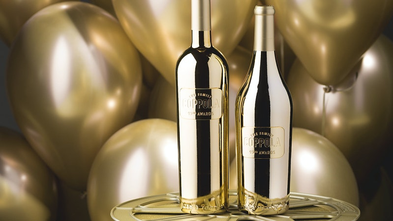 Oscars Light Up with Piper-Heidsieck Champagne and Gold Coppola Bottles