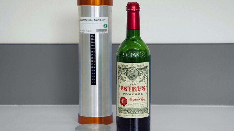 Twelve bottles of 2000 Pétrus were stored in capsules on the International Space Station for 14 months.