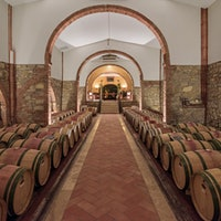 The barrel room at San Felice winery in TuscanyVigorello: The Evolution of a Super Tuscan