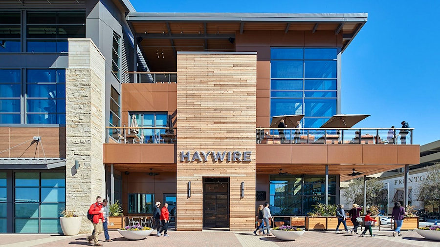 Different areas of the restaurant offer different styles of experiences at Texas Restaurant Award winner Haywire.