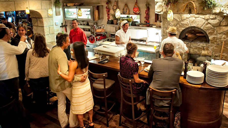 With a higher-end, Restaurant Award–winning sibling next door, Olio Pizzeria in Santa Barbara, Calif., is a wine-dedicated destination for an easy night out.