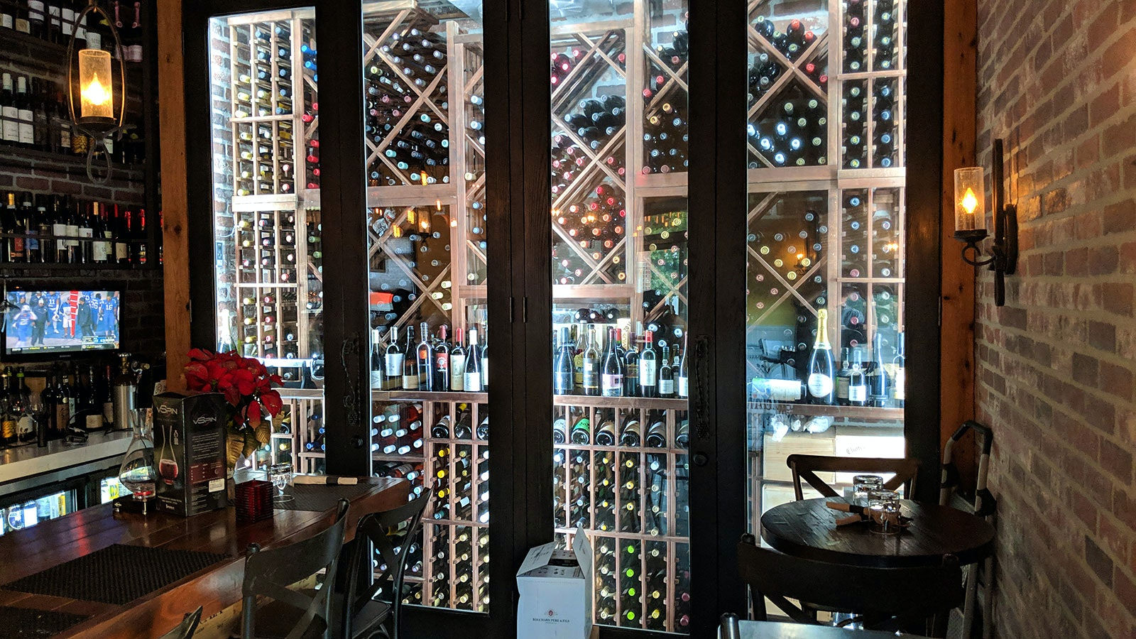 The wine cellar at Rustic Kitchen Market & Cafe
