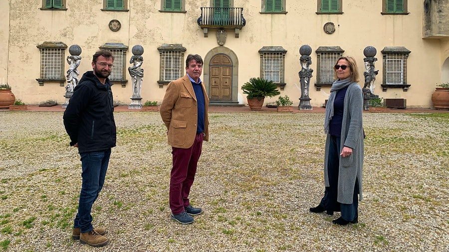 Gaddo, Filippo and Beatrice are among the Contini Bonacossi family members carrying on winemaking work that dates to Renaissance times while continuing to innovate with new bottlings.