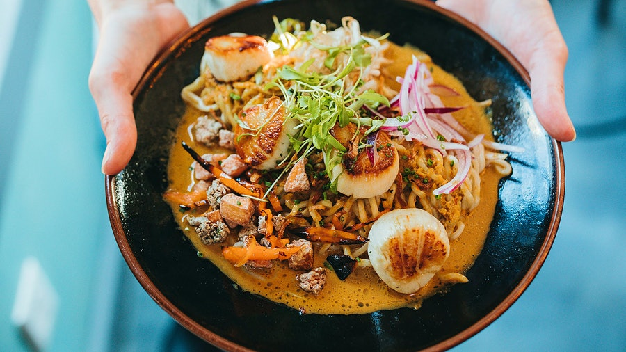 Asian flavors are incorporated into chef Liam Mackey's seafood-centric menu at the Nautilus in Nantucket, Mass.