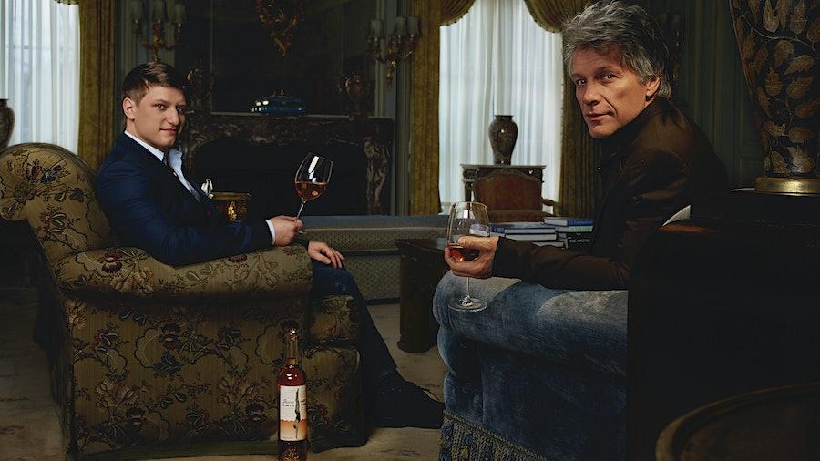 Jon Bon Jovi and his son Jesse Bongiovi contemplate a world where Hampton Water rosé is candy bears …