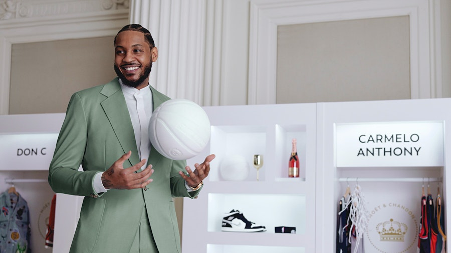 NBA legend and Wine Spectator cover star Carmelo Anthony is teaming with Möet & Chandon.