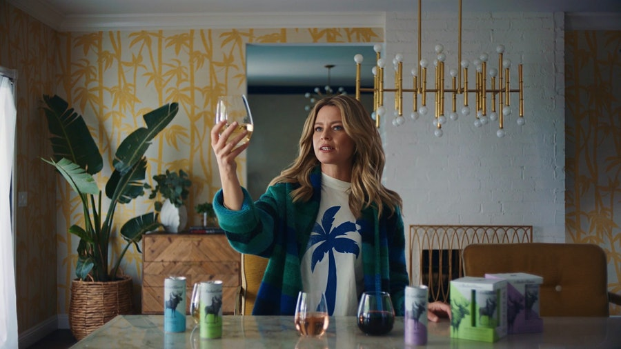Emmy-nominated actress Elizabeth Banks appears in an ad for Arthur Roose canned wine, which she now co-owns as well.