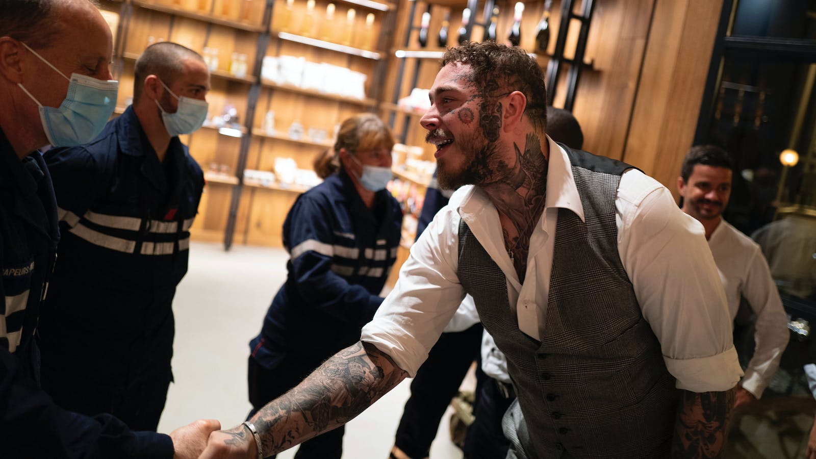 Rapper-Vintner Post Malone Gets Hands-On in Provence Wildfire Recovery