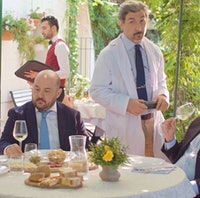 """Wine experts taste a white wine in still from video contest winner """"Sommelier: Don't Try This at Home""""2021 Video Contest Winner Revealed!"""