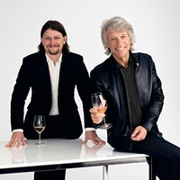 """Jesse Bongiovi recruited his famous father as a part-time """"employee"""" in  a now-booming family wine project.Wine Stars: Jon Bon Jovi and Jesse Bongiovi"""