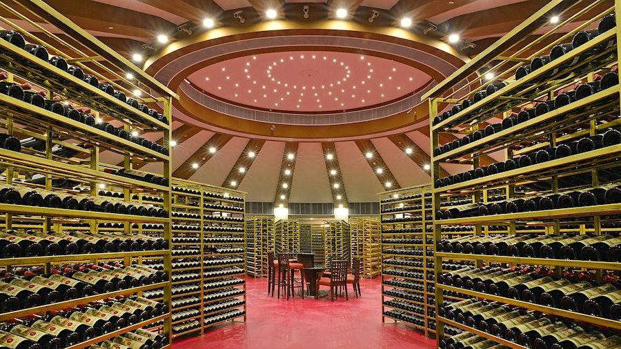 Macau's Grand Lisboa Hotel houses three Restaurant Award winners that share the 500,000-bottle wine inventory in this massive cellar.